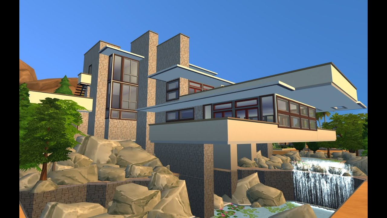 The Sims 4 : FALLING WATER RESIDENCE (Part-1 Exterior