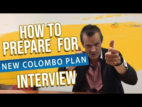 A Video to Help You Prepare for Your New Colombo Plan Scholarship Interview