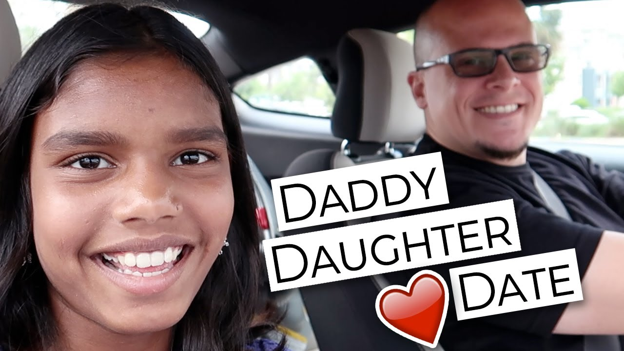 Daddy Daughter Date at the Movie Theatre