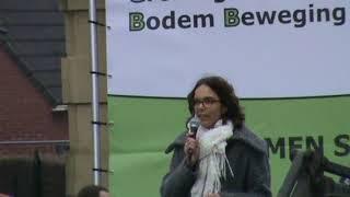 Manifestatie Groninger Bodem Beweging (GBB) in Middelstum. 25-01-2014