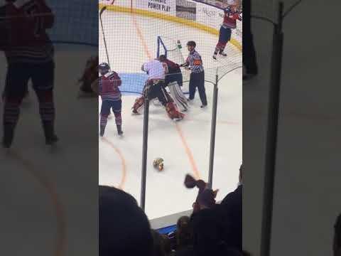 Goalie Fight Mason McDonald vs. Joel Martin