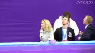 2018 OWG, Ladies FS Final Group Warm-Up (FANCAM)
