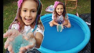 havuz İÇİne jel doldurduk elİfİ tutamadik İÇİne gİrdİ eĞlencelİ Çocuk vİdeosu