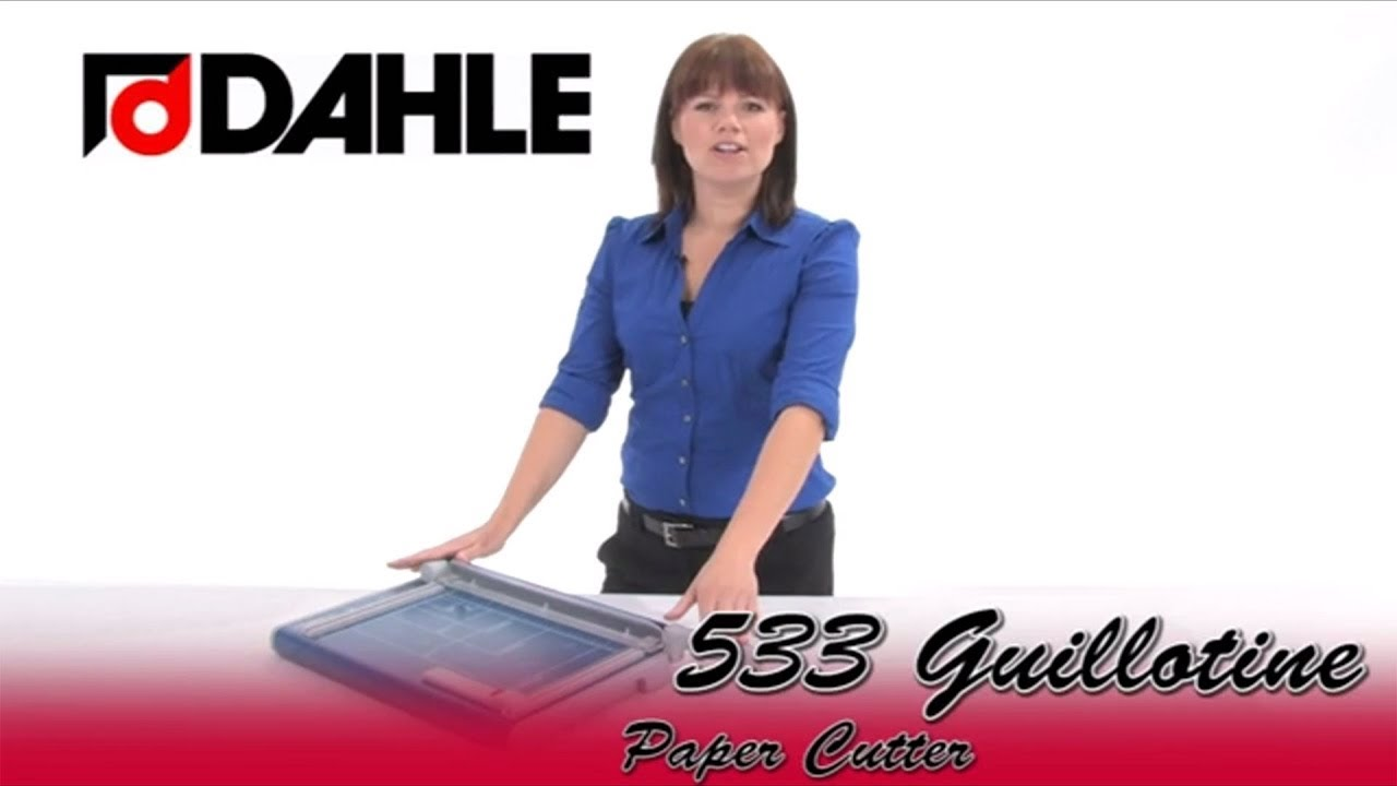 dahle 533 guillotine paper cutter youtube