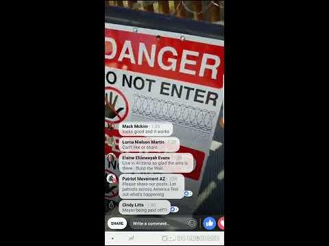 Migrant Caravan Is Welcome In Nogales Arizona- They Demand Government Remove Concertina Wire- PMAZ
