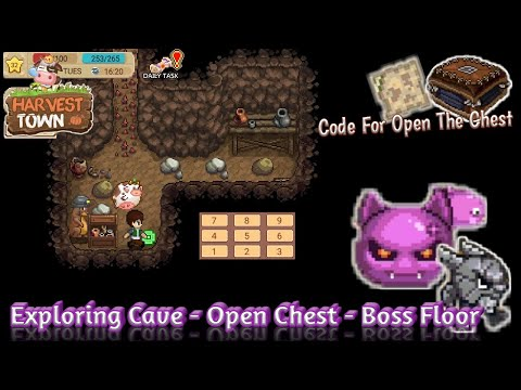 Harvest Town - Exploring Cave And Open Password Chest