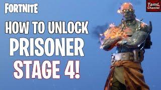 How to UNLOCK Prisoner STAGE 4! (Fortnite Battle Royale)