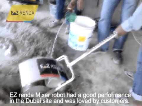 Mixer robot worked in Dubai site