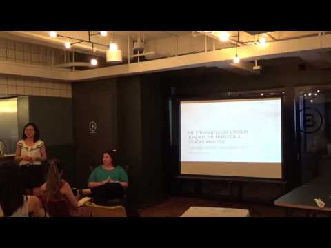 【NY cafephilo 34th Salon】The Syrian Refugee Crisis in Jordan: A Gender Perspective