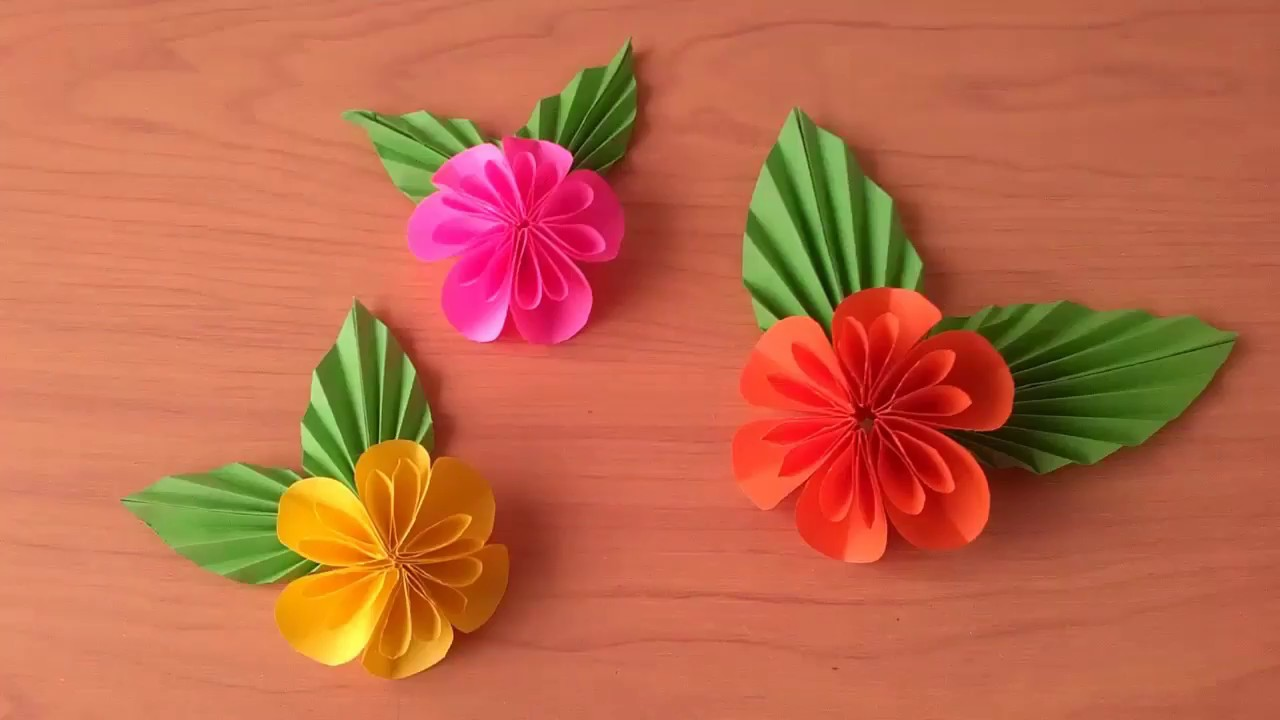 Cara Membuat Origami Bunga Dahlia Youtube