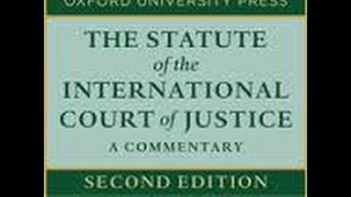 Statute for the International Court of Justice
