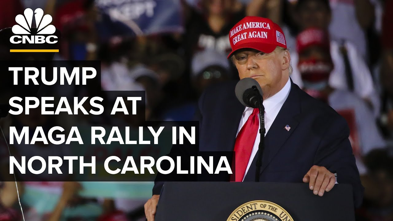 President Trump Speaks At Make America Great Again Rally In North Carolina 11 2 2020 Youtube