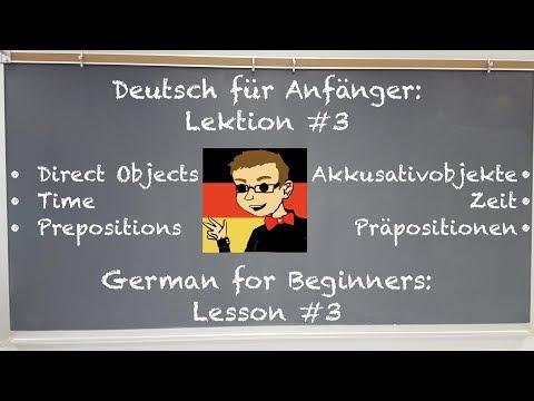 Deutsch Lernen für Anfänger: Lektion #3 - Live! (Learn German for Beginners: Lesson #3 - Live!)