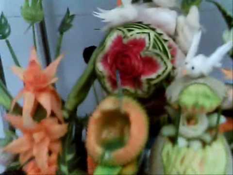 Decoracion de frutas y verduras youtube for Decoracion con verduras