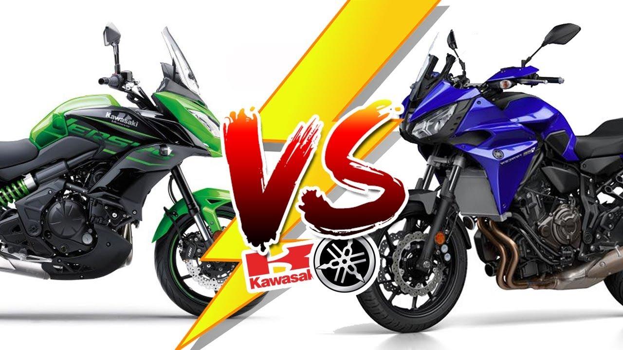 Kawasaki Versys 650 Vs Yamaha Tracer 700 Youtube