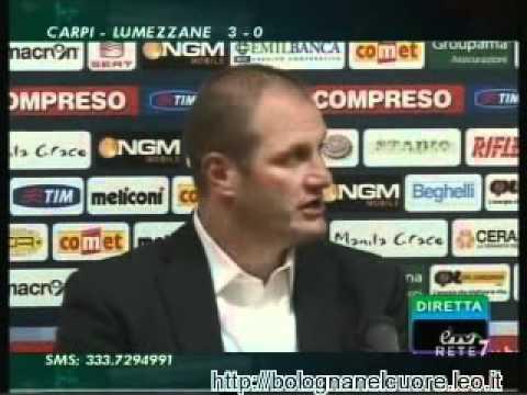 Bologna FC 1909 – Lecce 0-2 18/09/2011 Di Vaio e Bisoli sala stampa dopo la gara