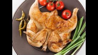 Цыплёнок Табака на сковороде. Это очень вкусно и просто! Цыпленок тапака. Курица жареная