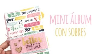Mini álbum con sobres de carta - TUTORIAL Scrapbook