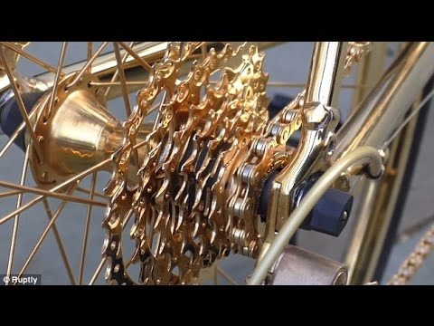 Stunning 24-carat gold bike valued at £250,000