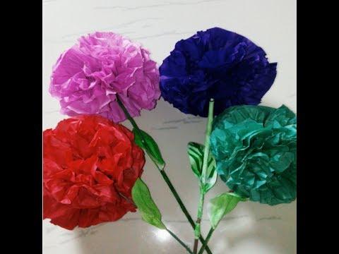 How to make Round Tissue paper Flower- DIY paper craft