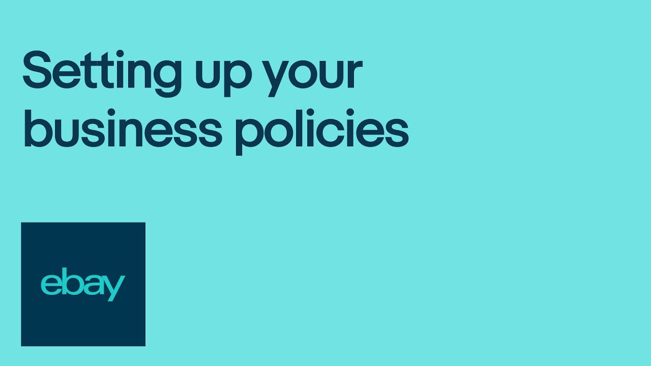 Setting Up Your Business Policies Youtube