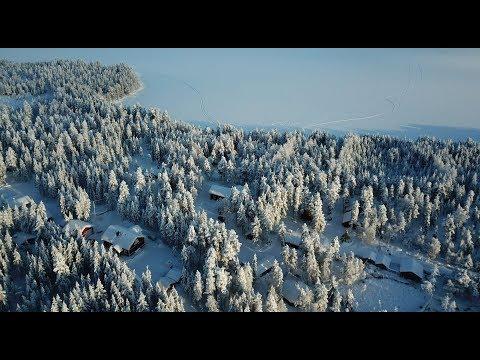 Lapland in Finland in winter by air: Pello an Arctic Circle destination drones DJI Mavic Pro & Spark