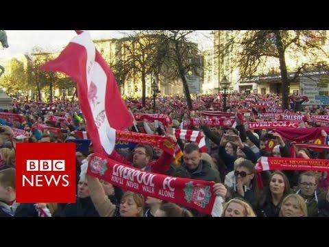 Hillsborough vigil sings You'll Never Walk Alone - BBC News
