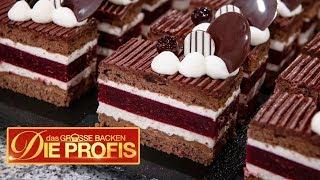 Mini Schwarzwälder Kirschtorte: Kleine Schoko-Kuchen | 2/2 | Das große Backen - Die Profis  | SAT.1