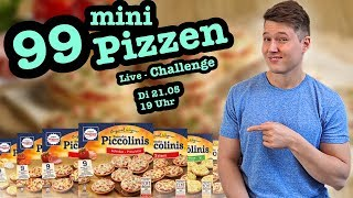 Live Food Challenge | 99 Mini Pizzen von Wagner (Piccolinis)