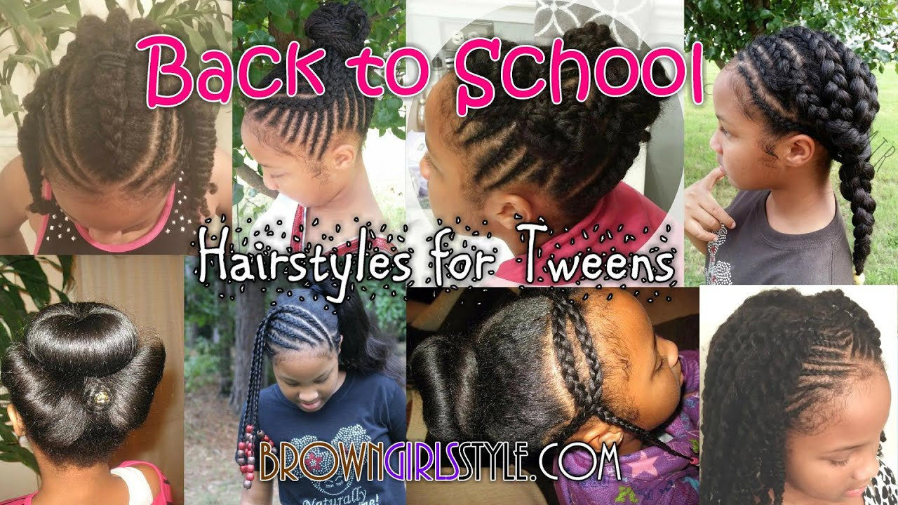 tween school natural hairstyles