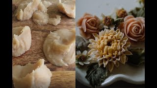 How to make sweet white bean paste for piping. 详解怎样制作白豆沙