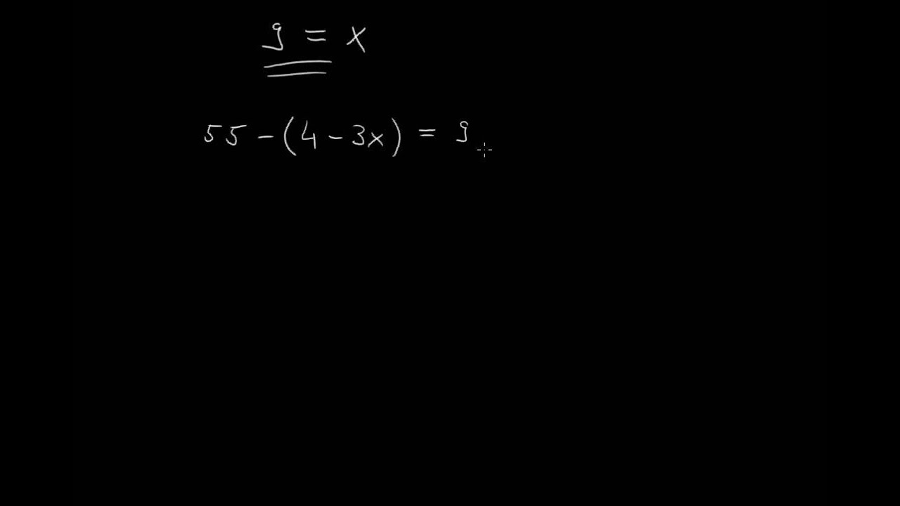 Lineare Gleichungen mit Klammern lösen - YouTube