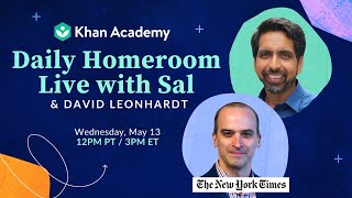 Daily Homeroom Live with Sal: Wednesday, May 13