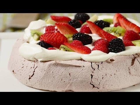 Chocolate Pavlova Recipe Demonstration - Joyofbaking.com