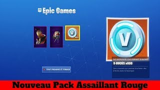 Fortnite I buy The New Red Attacker Pack 5 Euros !!!