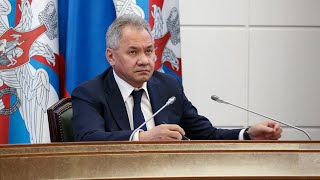 Доклад Сергея Шойгу о мероприятиях по недопущению распространения COVID-19 в ВС РФ