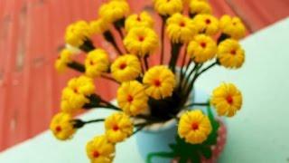 Repeat youtube video Yellow Flowers ดอกไม้จากหลอด