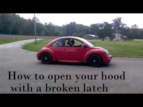 How To Open Your Hood If The Latch Breaks 98 Vw Beetle Easy Way And Replace