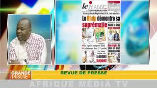 REVUE DE PRESSE : GRANDE TRIBUNE DU 15 10 2018