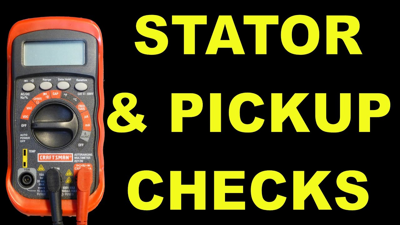 ignition pickup and stator checks for ac scooters  atvs