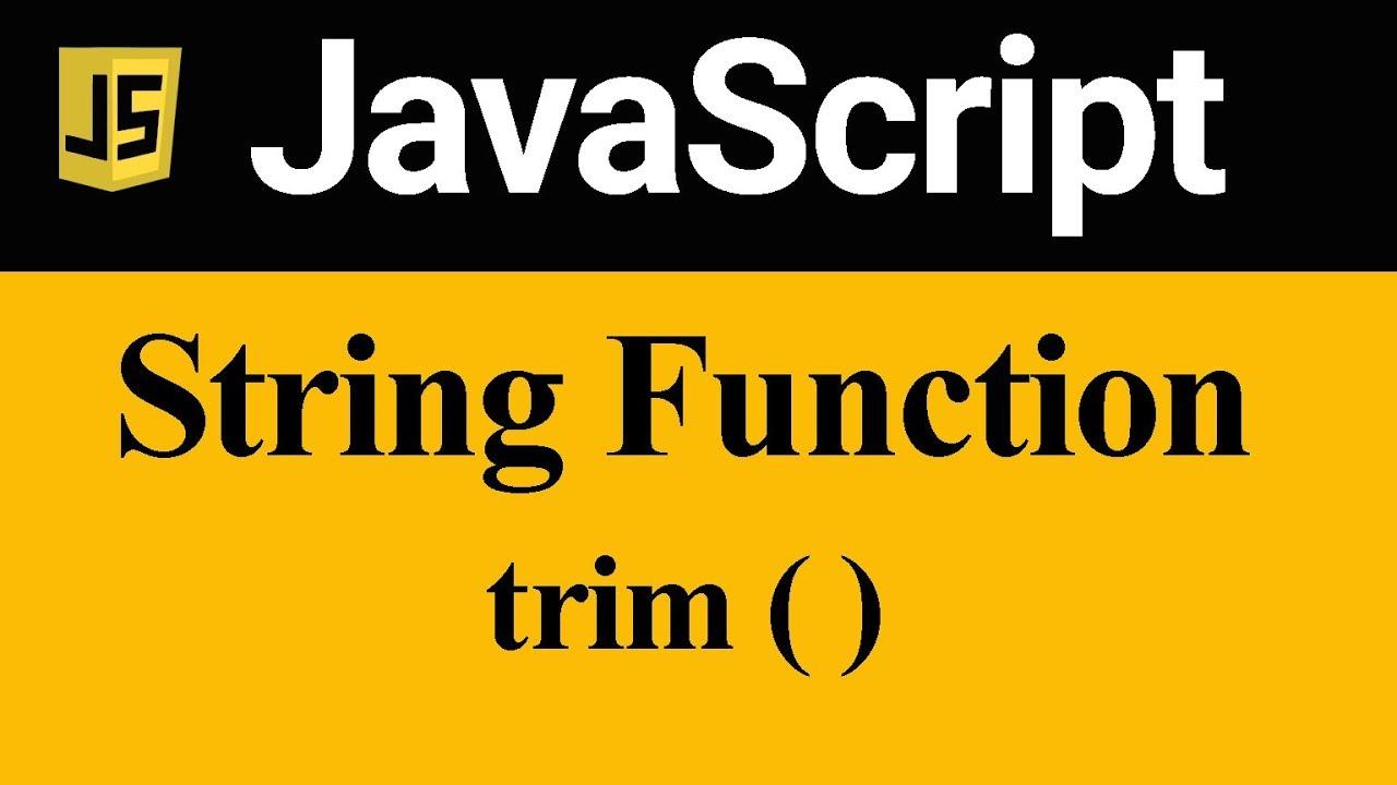 trim Method in JavaScript (Hindi)