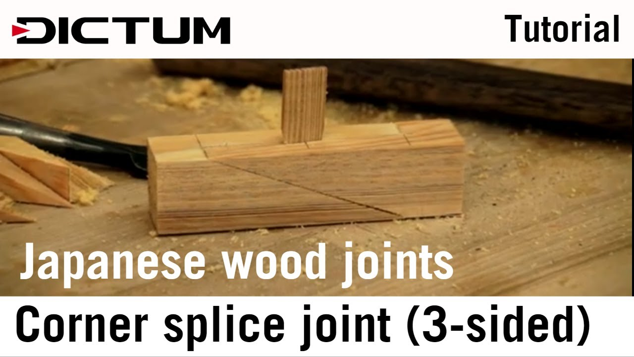 Japanese Wood Joints Corner Splice Joint English Youtube