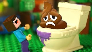 LEGO Minecraft vs 🚽 Spin Master Flush Force - Stop Motion Animation