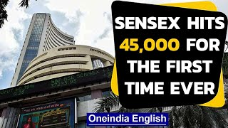 RBI ups GDP forecast from -9.5% to -7.5%, Sensex hits 45,000 for the first time ever|Oneindia News