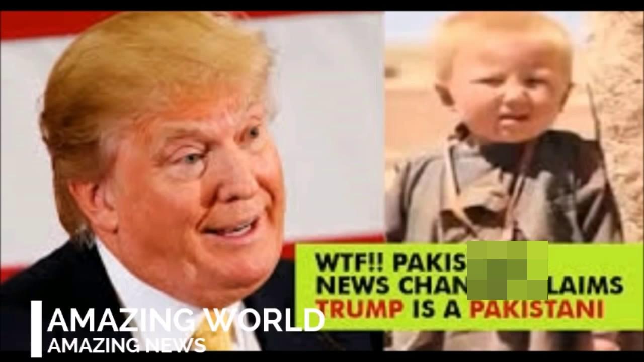 Stupid Pakistani News Channel Claims Trump Was Born In Pakistan MUH MAIN LELO TRUMP KA