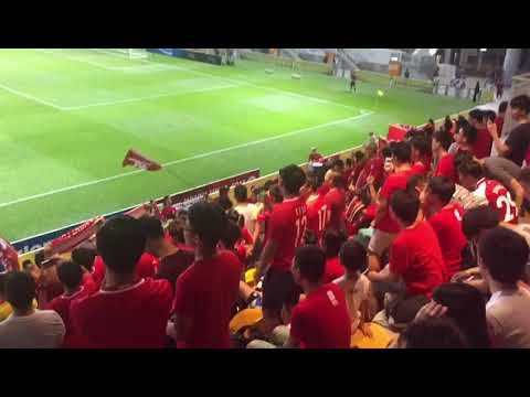 Fans boo China's national anthem during Hong Kong-Laos soccer match