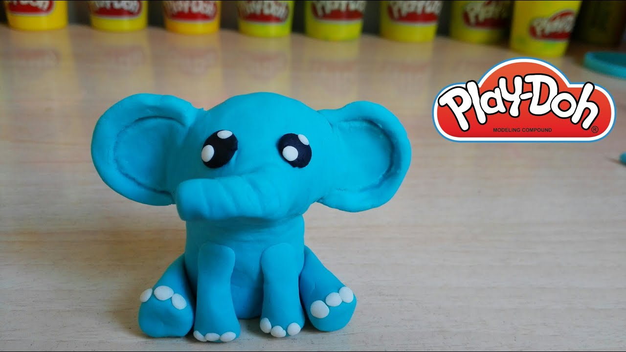 Play Doh Baby Elephant How To Make Como Hacer Beb 233