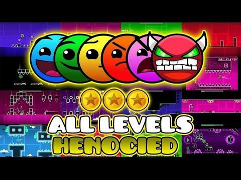 Прохождение всех уровней в Geometry Dash 1-20 all levels and COINS