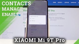 How to Import Contacts in XIAOMI Mi 9T Pro - Transfer Contacts