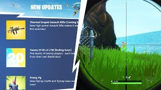*NEW* LEGENDARY ASSAULT RIFLE, WEAPON SKINS AND THERMAL VISION UPDATE! - Fortnite: Battle Royale